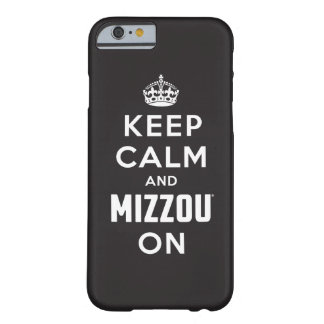 Guarde la calma y el blanco de Mizzou encendido - Funda De iPhone 6 Barely There
