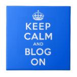 Guarde la calma y el blog encendido azulejos cerámicos