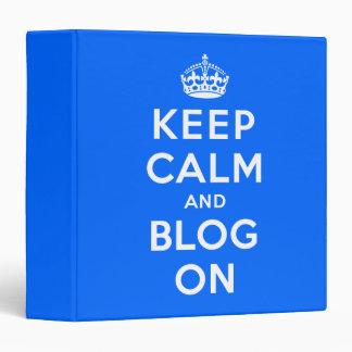 """Guarde la calma y el blog encendido carpeta 1 1/2"""""""