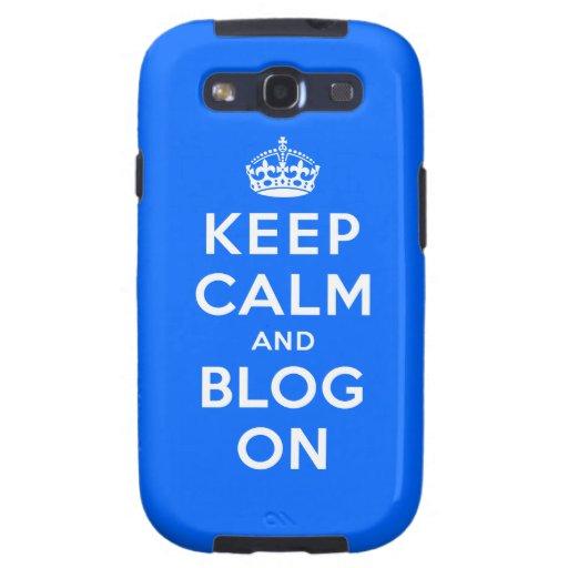 Guarde la calma y el blog encendido galaxy SIII coberturas