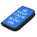 Guarde la calma y el blog encendido planificadores