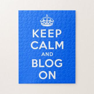 Guarde la calma y el blog encendido puzzles con fotos