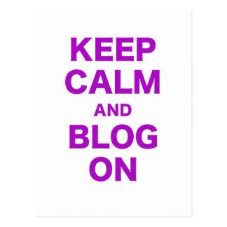 Guarde la calma y el blog encendido postales