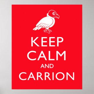Guarde la calma y el Carrion Poster