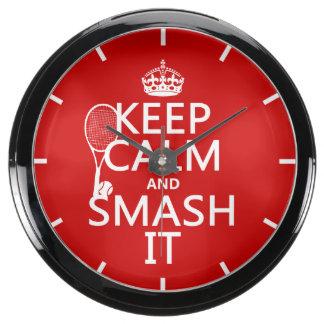 Guarde la calma y el choque él (tenis) (cualquier relojes aqua clock