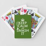 Guarde la calma y el choque él (tenis) (cualquier  barajas de cartas