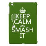Guarde la calma y el choque él (tenis) (cualquier  iPad mini protectores