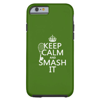 Guarde la calma y el choque él (tenis) (cualquier funda para iPhone 6 tough