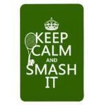 Guarde la calma y el choque él (tenis) (cualquier  imán de vinilo