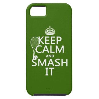 Guarde la calma y el choque él (tenis) (cualquier iPhone 5 carcasas