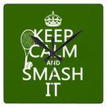 Guarde la calma y el choque él (tenis) (cualquier  reloj