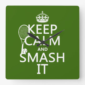 Guarde la calma y el choque él tenis cualquier reloj