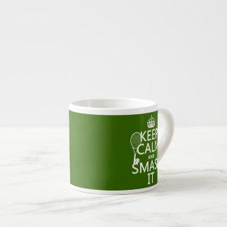 Guarde la calma y el choque él (tenis) (cualquier taza de espresso