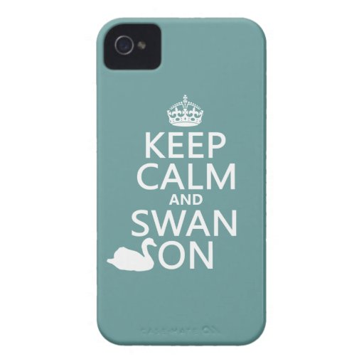 Guarde la calma y el cisne encendido - todos los Case-Mate iPhone 4 cárcasas