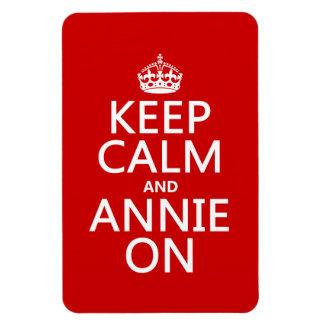Guarde la calma y el color de encargo de Annie Imanes Rectangulares