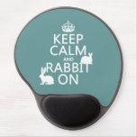 Guarde la calma y el conejo encendido - todos los  alfombrillas con gel
