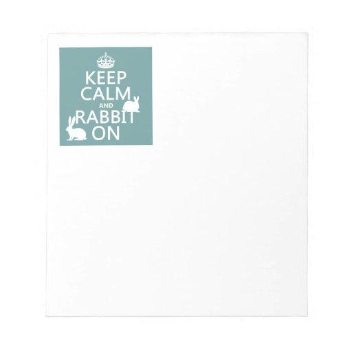 Guarde la calma y el conejo encendido - todos los  blocs