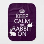Guarde la calma y el conejo encendido - todos los paños para bebé
