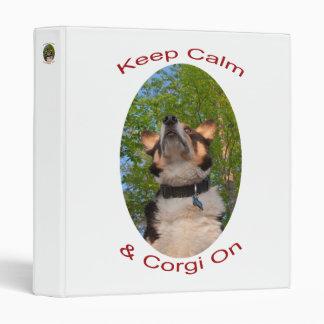 Guarde la calma y el Corgi encendido
