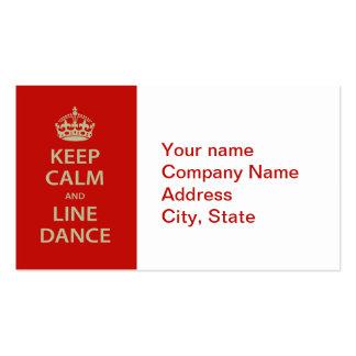Guarde la calma y el cuerpo de baile tarjeta de negocio
