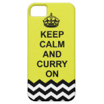 Guarde la calma y el curry en la caja del teléfono iPhone 5 carcasa