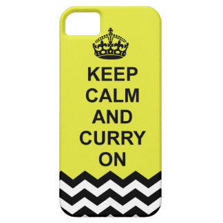 Guarde la calma y el curry en la caja del teléfono