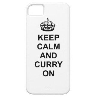 Guarde la calma y el curry en la caja del teléfono iPhone 5 Case-Mate cárcasa