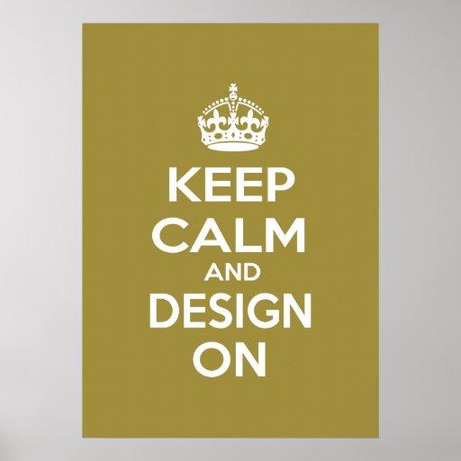 Guarde la calma y el diseño en meme poster
