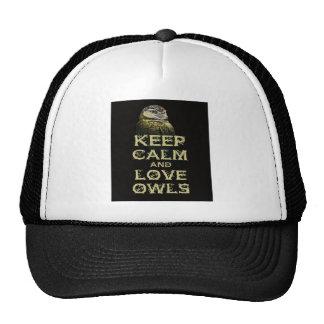 Guarde la calma y el diseño único del arte de la gorra