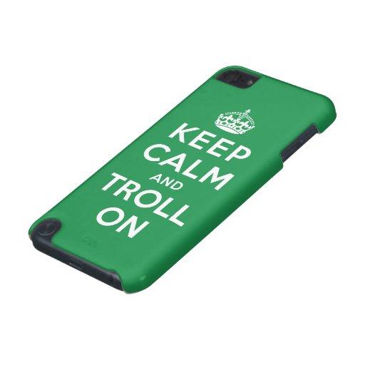 Guarde la calma y el duende encendido funda para iPod touch 5G