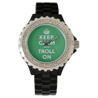 Guarde la calma y el duende encendido relojes de mano