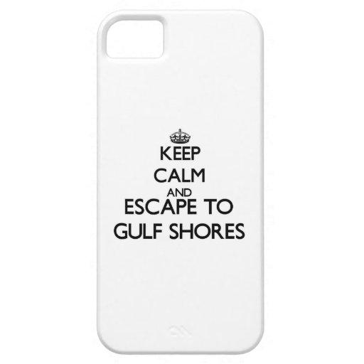 Guarde la calma y el escape a las orillas Tejas iPhone 5 Case-Mate Carcasas