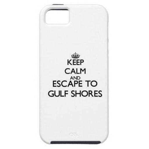 Guarde la calma y el escape a las orillas Tejas iPhone 5 Case-Mate Protector