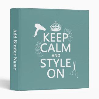 """Guarde la calma y el estilo en (cualquier color de carpeta 1"""""""