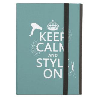 Guarde la calma y el estilo en (cualquier color de