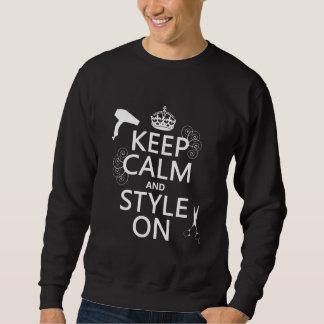 Guarde la calma y el estilo en (cualquier color de sudadera con capucha