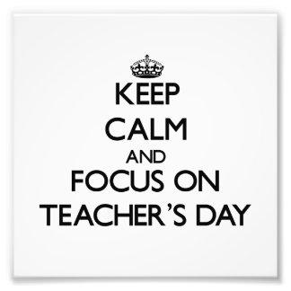Guarde la calma y el foco el el día de los profeso