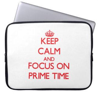 Guarde la calma y el foco el hora de máxima audien mangas computadora