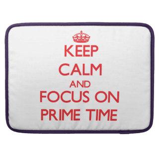 Guarde la calma y el foco el hora de máxima audien fundas para macbook pro
