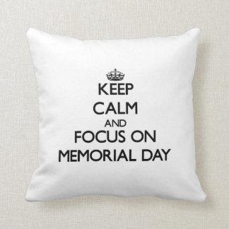 Guarde la calma y el foco el Memorial Day