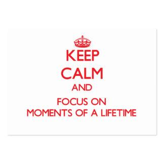 Guarde la calma y el foco el momentos de un curso tarjetas de visita grandes