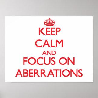 Guarde la calma y el foco en ABERRACIONES