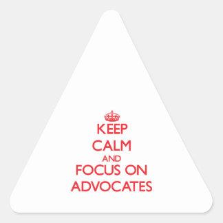 Guarde la calma y el foco en ABOGADOS Colcomanias Triangulo