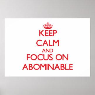 Guarde la calma y el foco en ABOMINABLE