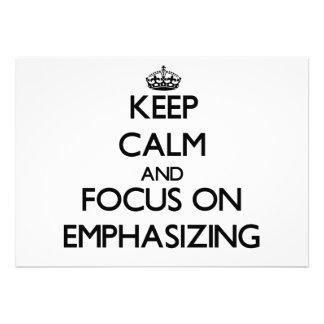Guarde la calma y el foco en ACENTUAR Anuncio