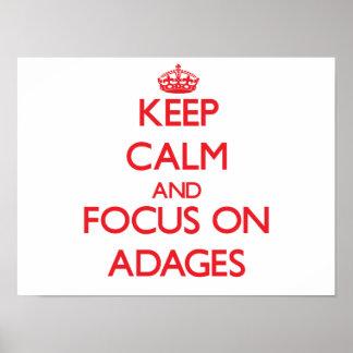Guarde la calma y el foco en ADAGIOS Poster