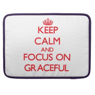Guarde la calma y el foco en agraciado funda para macbooks
