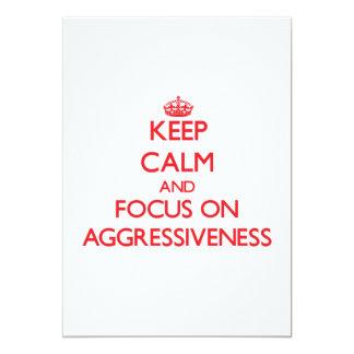Guarde la calma y el foco en AGRESIVIDAD Anuncios Personalizados