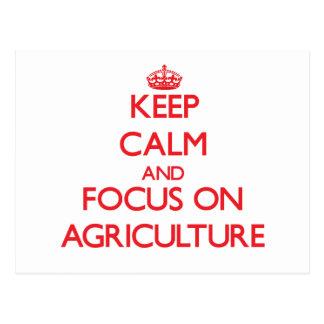 Guarde la calma y el foco en AGRICULTURA Tarjetas Postales