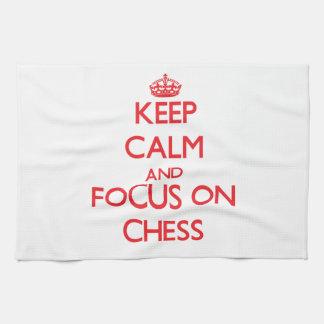 Guarde la calma y el foco en ajedrez
